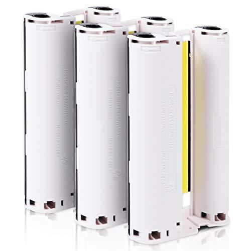 Fimax Cartucho de Tinta Selphy CP1300 CP1000, Compatible con Impresora Selphy CP, 3 Cartuchos de Tinta