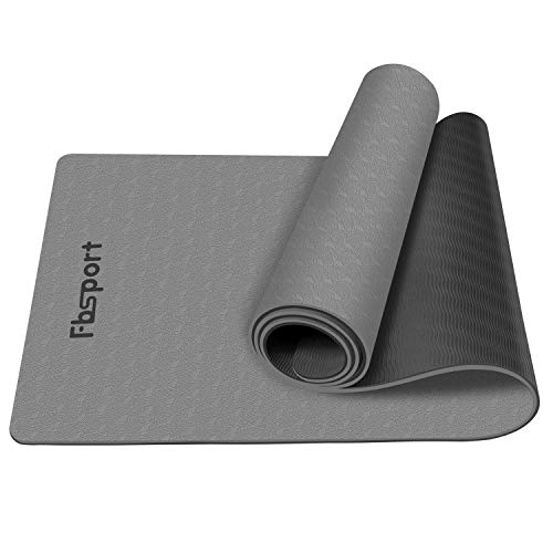 "FBSPORT Yoga Mat- Eco Friendly Non Slip 1/4 inch Fitness Exercise Mat with Carrying Strap & Storage Bag, Workout Mat for Yoga, Pilates and Floor Exercises (72""X24""X 1/4"")"