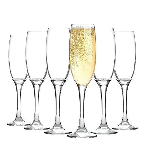 Argon Tableware Sektflöten - 6 Gläser mit Geschenkverpackung - 220 ml