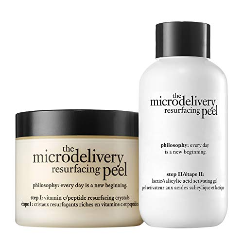 philosophy microdelivery at-home vitamin c peptide peel 120ml | lactic and salicylic acid peel