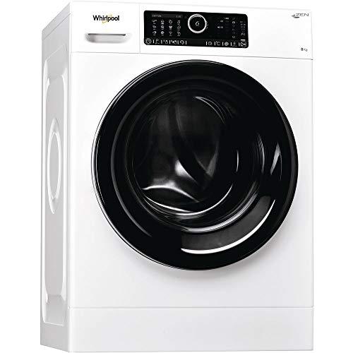 Whirlpool Autodose 8425 Waschmaschine, freistehend, Toplader, Weiß, 8 kg, 1400 U/min, A+++-50 % – Waschmaschinen (freistehend, Toplader, Weiß, Knöpfe, Drehknöpfe, Schwarz, Kunststoff)