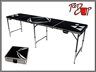 Red Cup Pong 8' Beer Pong Table - Lightweight & Portable with Carrying Handles