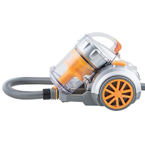 H.Koenig Aspirateur traineau sans sac cyclonique classe énergétique AAA Hugo orange TC34, Silencieux, Puissant, Efficace, Compact, Multifonction