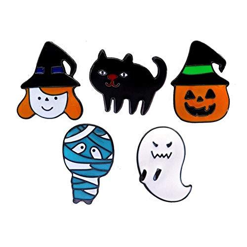 Miss charm Halloween Cartoon Serie Schmuck Ghost Pumpkin Head Mumie Tropfen Öl Brosche Metall Abzeichen