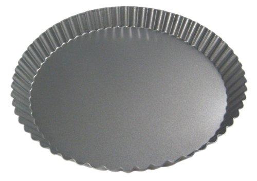 de Buyer 4703.10 MINI TARTELETTE FIXE Ø10CM, Acier revêtu, Gris, 10 cm