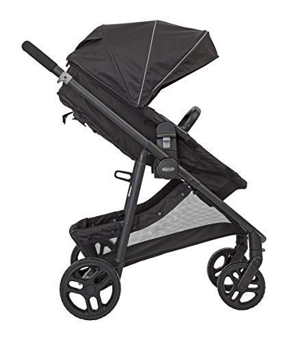 Graco Transform 2-in-1 Pushchair/Stroller (Birth to 4 Years Approx, 0-22 kg), Converts from Pramette to Pushchair, Black Graco Suitable from birth to approx. 4 years (22kg) Convertible pramette to pushchair in a flash. includes a comfy soft new-born liner for the first journey Click connect travel system compatible with graco snug ride/snug essentials i-size infant car seats 9