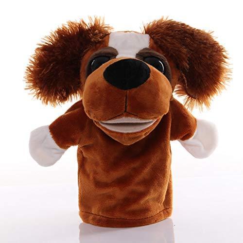 Juguete de peluche 1 unids 25 cm Marioneta de mano perro Animal Juguetes de peluche para bebé educativo Marionetas de mano historia simulación de jugar muñecas para niños regalos HLSJ