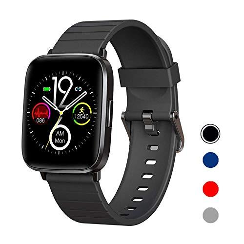 DOOK Smartwatch, Reloj Inteligente Impermeable IP68 para Hombre Mujer niños, Pulsera de Actividad Inteligente con Monitor de Sueño Contador de Caloría Pulsómetros Podómetro para Android iOS,Negro