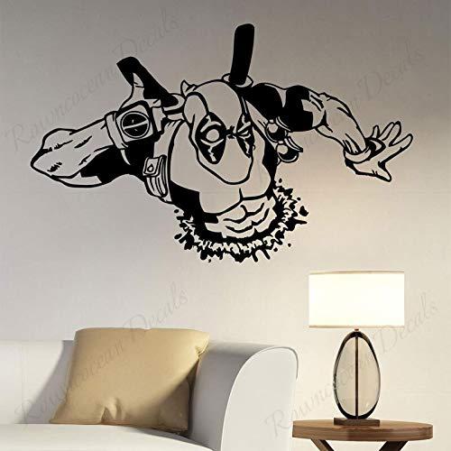 wZUN Pegatina de Pared de héroe Divertido Vinilo decoración del hogar habitación de niños Dormitorio de niño calcomanía de Pared de Sala de Juegos 100X63 cm