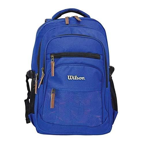 Mochila Bolsa Masculina Notebook 14'' Impermeável Grande Azul Escolar Costas Escolar Trabalho Reforçada Feminina Adulto Lançamento Wilson