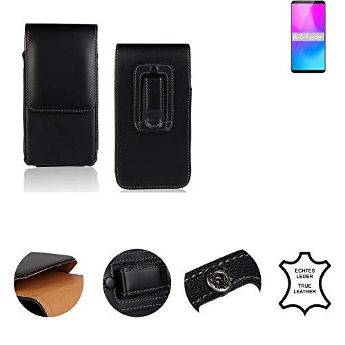 K-S-Trade® Holster Gürtel Tasche Für Nubia Z18 Mini Handy Hülle Leder Schwarz, 1x
