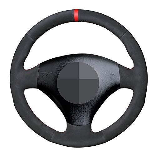 MDHANBK Funda para volante de coche cosida a mano, para Audi A2 8Z A3 8L Sportback A4 B6 Avant A6 C5 A8 D2 TT 8N S3 S4 RS 4 RS 6