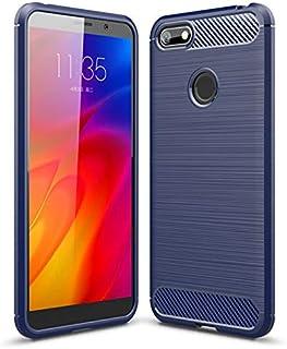 SWMGO® Fermezza e Flessibilità Smartphone custodia Compatibile per Motorola Moto E6 Play(Blu Scuro)
