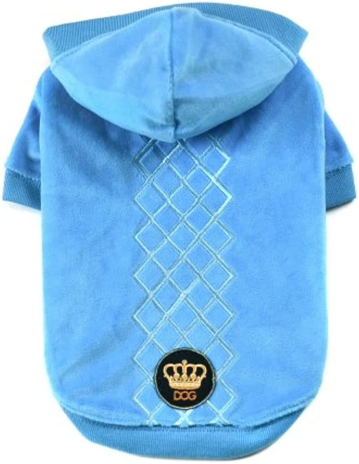 Dogs of Glamour Argyle Hoodie, Large, Peacock