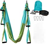 Yoga Hammock, Aerial Yoga Swing Set, Ultra Strong Antigravity Yoga Hammock/Sling/Inversion Tool for Gym Home Fitness