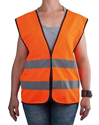 4business veiligheidsvest met zwarte zoom, oranje