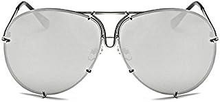 f9ab0e384a Horrenz Mujeres hombres de gran tama?o gafas de sol del dise?o de