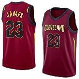 XZWQ Camiseta De La para Hombre, Cleveland Cavaliers # 23 James Fan Jersey Chaleco De Baloncesto Camiseta De Baloncesto De Media Manga Transpirable Camiseta Retro,Rojo,L