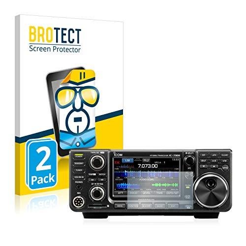 BROTECT Protector Pantalla Compatible con Icom IC-9700 Protector Transparente (2 Unidades) Anti-Huellas