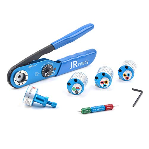 JRready JST1515 M22520/1 series crimping tool kit, JRD-AF8/M22520/1-01 crimper work with TH1A/TH163 /TH4/UH2-5 positioner and G125 Suitable for Solid Contacts of electric Connectors 12-26AWG