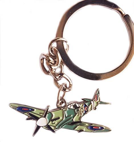 Keyring WW2 RAF Spitfire Fighter Plane Aeroplane Airplane MOD Military Air Force Battle of Britain plane aircraft