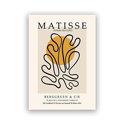 Henry Matisse pintura abstracta ilustración mínima exposición de arte carteles e impresiones familia sin marco lienzo pintura A4 70x100cm