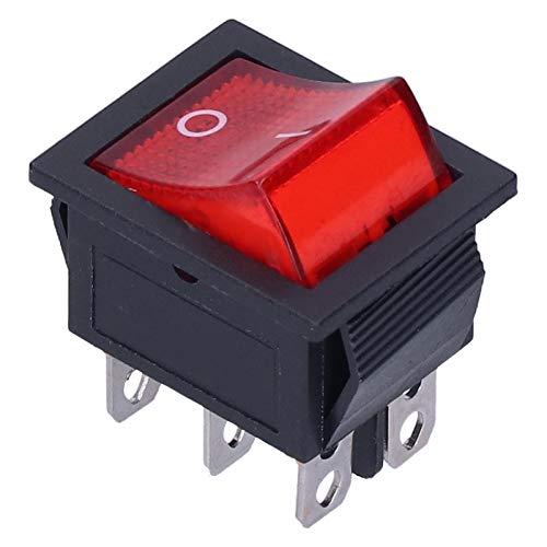 Interruptor de Encendido/Apagado, Interruptor basculante de corrosión Fuerte de 15 A, 10 Piezas de ABS/Hierro para electrodomésticos para TV