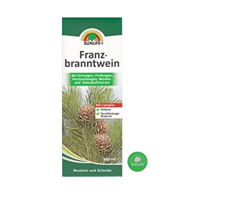 Sunlife Franzbranntwein gegen Zerrungen, Prellungen, Verstauchungen, Muskel + Gelenkschmerzen (500ml)