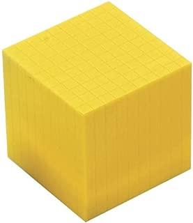 EAI Education Base Ten Thousand Cube: Yellow Plastic