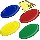 Partituki Pack de 4 Discos Voladores para Niños Muy Fáciles de Sujetar. Mucho más Seguros Que los Frisbees Estándar. Anillos Voladores. Colores: Azul, Rojo, Verde y Amarillo.