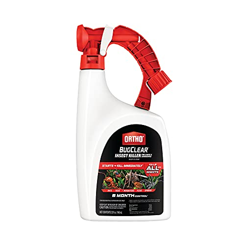 Ortho BugClear Insect Killer for Lawns & Landscapes Ready to Spray - Kills Ants, Spiders, Fleas, Ticks, Armyworms & Other Insects, Outdoor Bug Spray for up to 6 Month Insect Control, 32 oz.