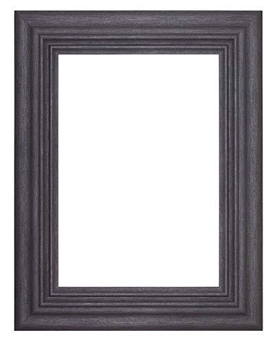 Marco de fotos tamaño europeo- Pantalla de rango de Londres de marco ancho Marco para ilustraciones/ fotografías/ Pósters/ con pexiglás – (A4) Gris