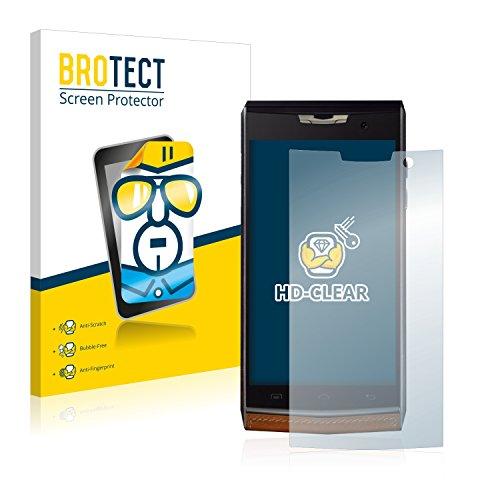 BROTECT Schutzfolie kompatibel mit Doogee T3 (2 Stück) klare Bildschirmschutz-Folie