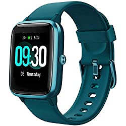 Smart Watch for Android/Samsung/iPhone, Activity Fitness Tracker with IP68 Waterproof for Men Women & Kids, Smartwatch with 1.3 Full-Touch Color Screen, Heart Rate & Sleep Monitor, Green