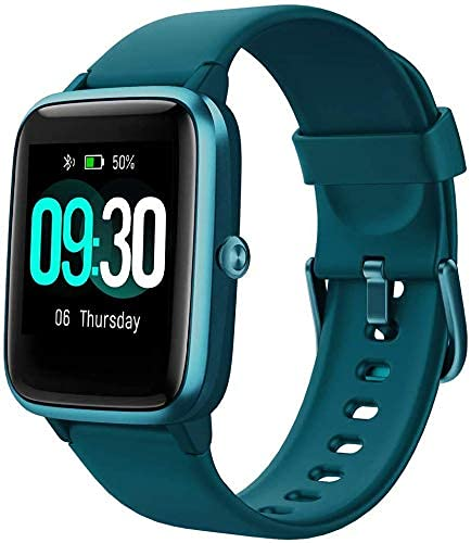 "Smart Watch for Android/Samsung/iPhone, Activity Fitness Tracker with IP68 Waterproof for Men Women & Kids, Smartwatch with 1.3"" Full-Touch Color Screen, Heart Rate & Sleep Monitor, Green"