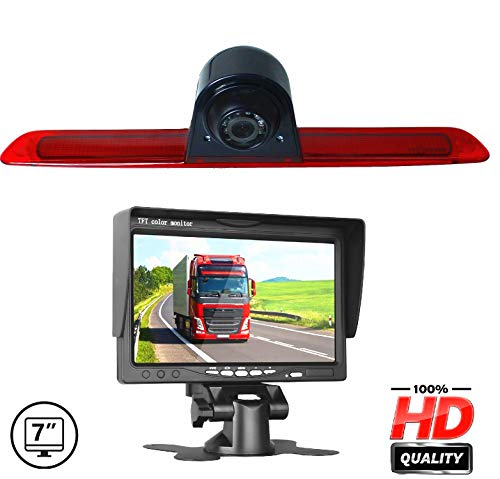 HD 720P 3r Brake Light Replacement Camera Rear Backup Reversing Camera with 7 inch Dash Mounted Monitor for Transit F150//F250//F350 Ford Transit V636 Transit Jumbo 2014-2019