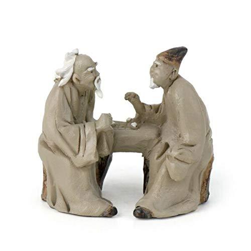 New Ornaments - Conversing Mud Men GO 17816 | Miniature Fairy Garden Zen Bonsai Garden Décor, Ornaments, Statues by Lukas Winges