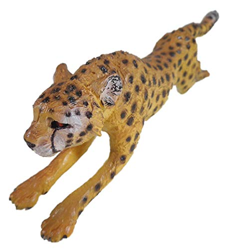 Springender Gepard 16 cm Leopard Leo Raubtier Afrika Tier Figur Deko Gharo 0173