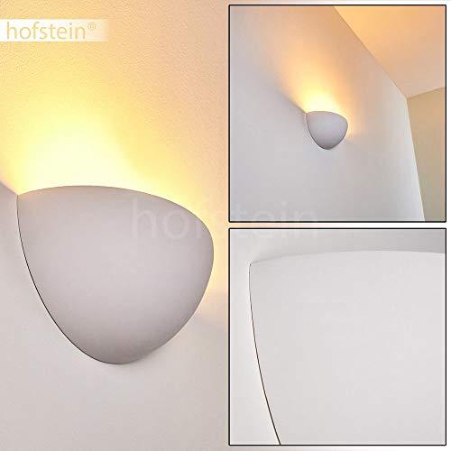 Wandleuchte Linares aus Keramik weiß, Wandlampe mit Lichteffekt für Flur, Wohnzimmer, Schlafzimmer - Diese Lampe ist mit handelsüblichen Farben bemalbar