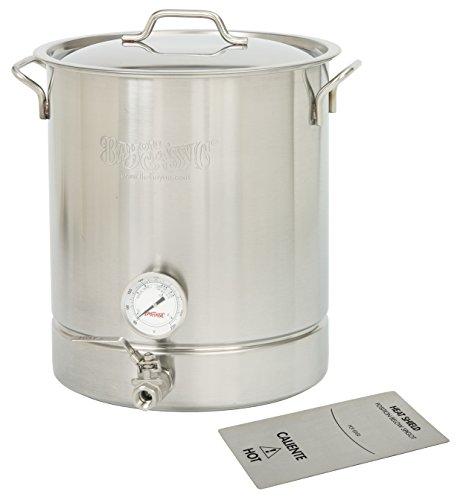Bayou Classic 800-464-16-gal Standard Brew Kettle, 64 quart, Stainless Steel