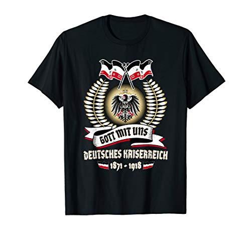 Deutsches Kaiserreich T-Shirt Gott Mit Uns Deutschland T-Shirt