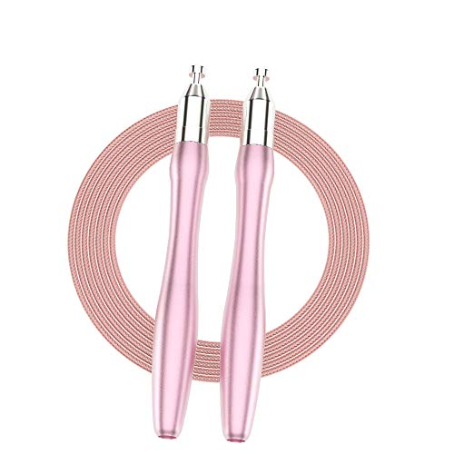 Speed Jump Rope Adult for Women,Skipping Rope Fitness for Men Children Adjustable Self-Locking Tangle-Free,360 Degree Spin,2 Speed Rope Cables for Aerobic Exercise,Gym,Family Group Activities