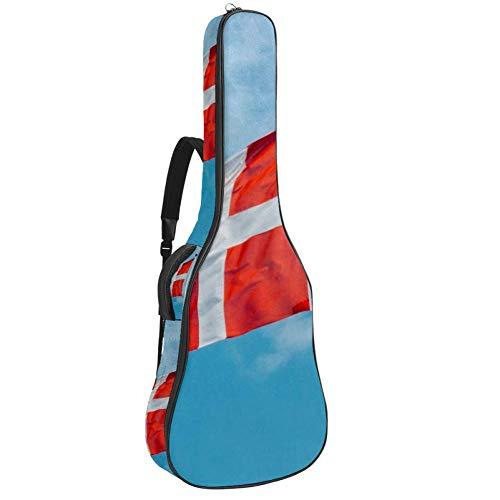 TIZORAX - Funda para guitarra acústica, impresión personalizada, tamaño completo, con asa acolchada, correa para el hombro