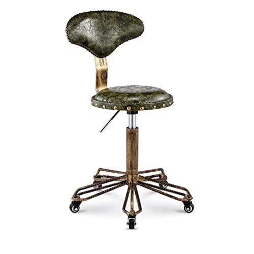 Qjifangyizi Kruk, hoge rugleuning, in hoogte verstelbaar, voor ontbijt thuis, keuken, koffiehuis, stoelen met wieltjes
