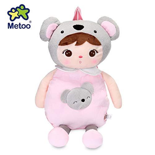 Metoo 1085-0-3 Rucksack Stoffpuppe Koalabär Mädchen rosa