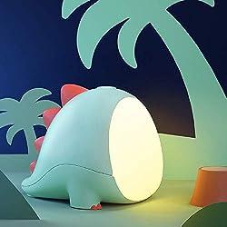 7. Vency Desk Dinosaur Lamp with USB Charging Port