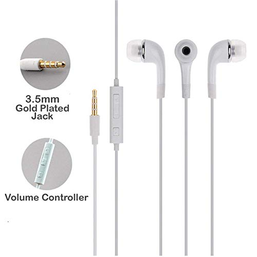 in-Ear Headphones Earphones for Asus X00GD, Asus Zen AiO, Asus Zenfone 3, Asus Zenfone 3 Deluxe, Asus Zenfone 3 Ultra, Asus Zenfone 3 ZE552KL, Asus Zenfone 4 2017, Asus Zenfone 4 Pro, Asus Zenfone AR ZS571KL, Asus Zenfone Zoom S, Asus Zenfone3 Zoom ZE553KL, Asus Zenpad Z10 ZT500KL Calling 3.5mm Audio Jack