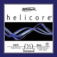 D'Addario ダダリオ ウッドベース(コントラバス)弦 H612 3/4M Helicore Orchestral Bass Strings / D-nickel 【国内正規品】