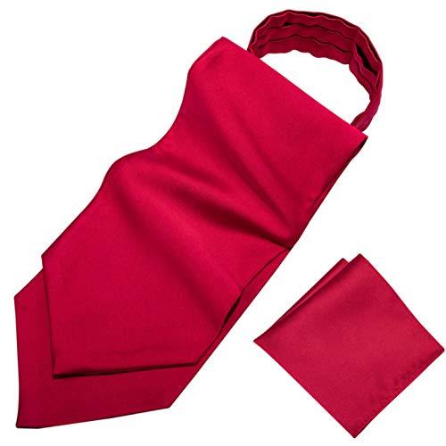 ZorYer Krawattenschal Ascot Krawatte für Männer Seidenschal Krawatte Anzug Herren Krawatte Jacquard Set Tasche Quadrat Manschettenknöpfe S810-A