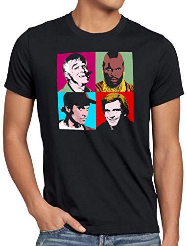 style3 Das Team Herren T-Shirt Minivan a Hannibal Murdock, Größe:XXL, Farbe:Schwarz